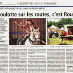 "article du journal local ""le résistant"" du 26 octobre 2017"